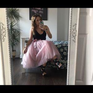 6229ae1bd elsie's attic Skirts   Baby Pink Midi Tulle Tutu Skirt Size 8   Poshmark